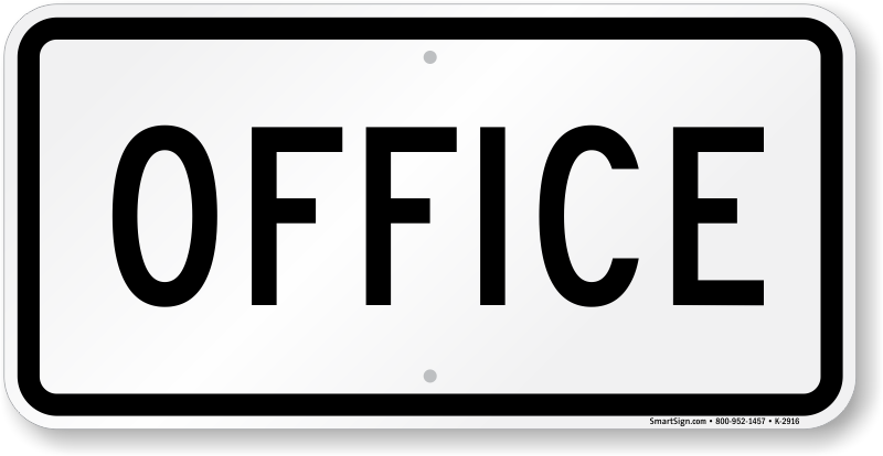 office sign parking lot sign sku k 2916