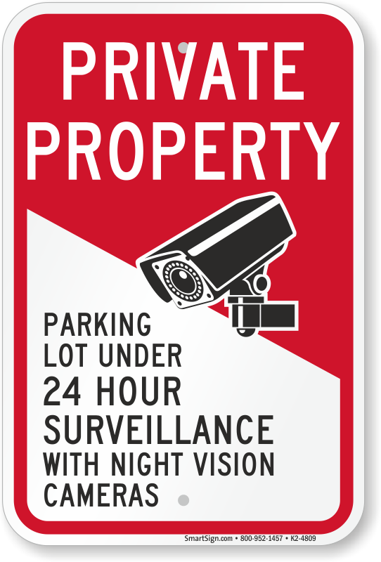 CCTV SECURITY 3M REFLECTIVE SURVEILLANCE CAMERAS SIGN