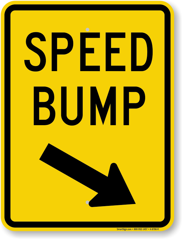 Speed Bump Down Arrow Pointing Right Sign Sku K 8786 R