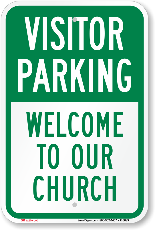 Church visitor parking signs reserved for church visitors signs church visitor parking signs m4hsunfo