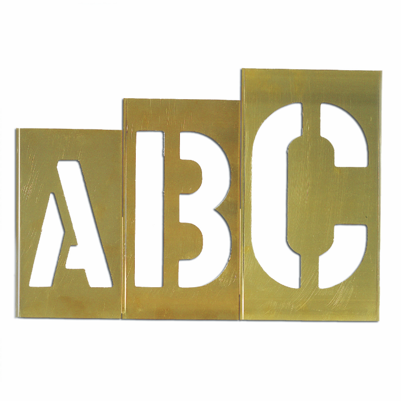Letter Addressing Stencil.Brass Oversized Gothic Style Stencils Letter 33 Piece Signs