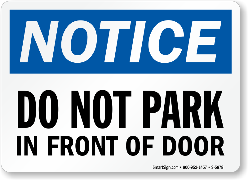 Zoom Price Buy  sc 1 st  MyParkingSign & Do Not Block Gate Signs \u2013 MyParkingSign