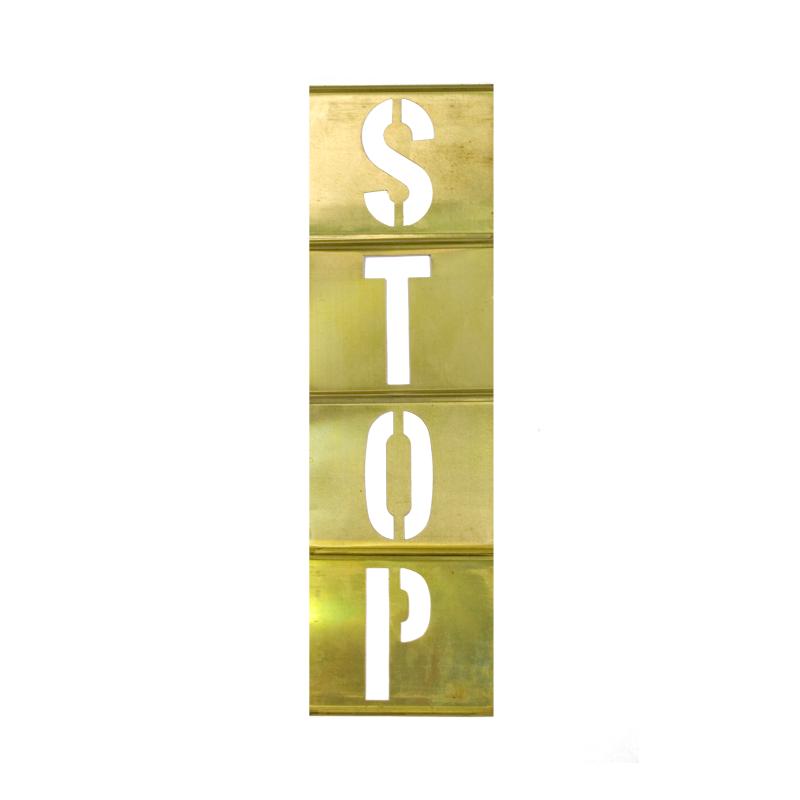 Letter Addressing Stencil.Interlocking Brass Stencils Vertical Letter Set 33 Piece