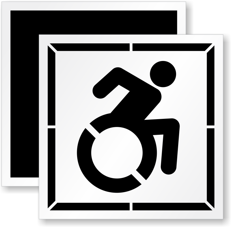updated accessible symbol stencil sku st 0145 n
