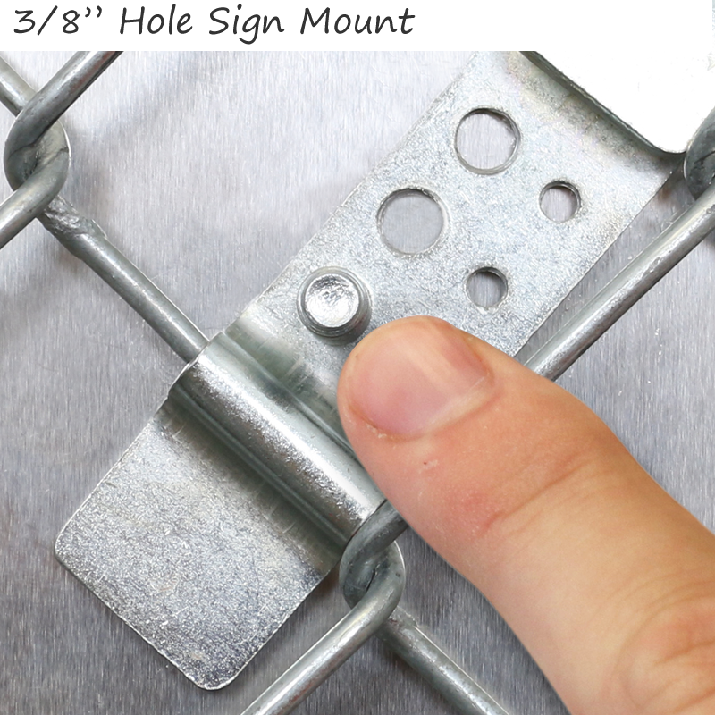 Ez clip sign clips for chain link fence pair