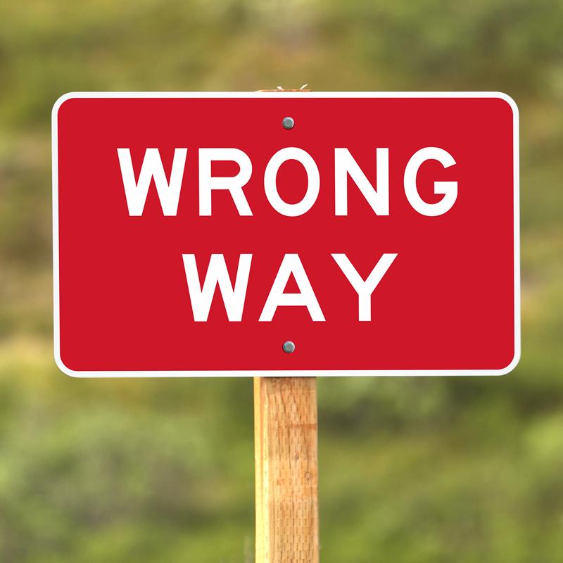 wrong way sign sku k 101 1