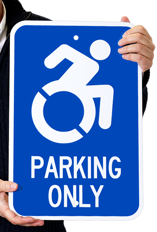 Ada Accessible Parking Only Sign With Isa Symbol Sku K 1437 N