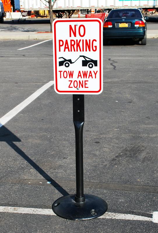 No Parking Tow Away Zone Sign Sku K 1939