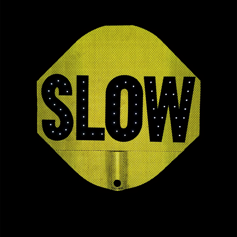 Stop Slow 2 Sided Led Sign Canada Compliant With