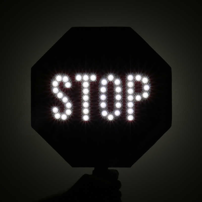 Stop 2 Sided Led Sign With Rechargeable Battery Canada