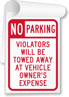 No Parking, Violators Towed Away Sign Book