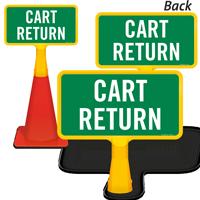 Cart Return ConeBoss Sign