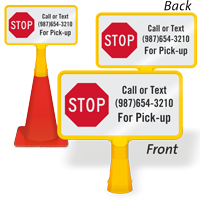Custom Stop ConeBoss Sign