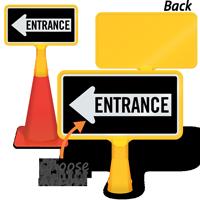 Entrance Left Arrow ConeBoss Sign