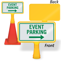 Event Parking Right Arrow ConeBoss Sign
