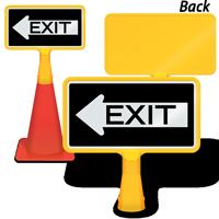 Exit Left Arrow ConeBoss Sign