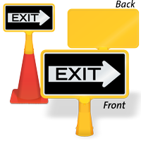Exit Right Arrow ConeBoss Sign