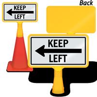 Keep Left Arrow ConeBoss Sign
