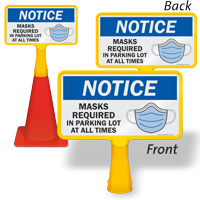 NOTICE: Masks Required in Parking Lot at All Times FloorBoss Sign