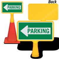 Parking Left Arrow ConeBoss Sign