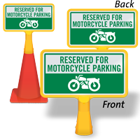 Reserved For Motorcycle Parking ConeBoss Sign