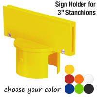 Stanchion Pole Sign Adapter