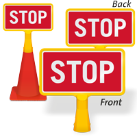 Stop ConeBoss Sign
