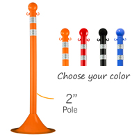 Pole Stanchions With DOT Stripes