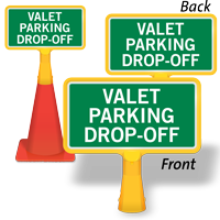 Valet Parking Drop Off ConeBoss Sign