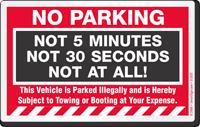 No Parking Sticker