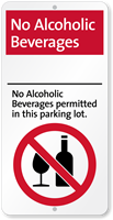 No Alcoholic Beverages Permitted Parking Lot, iParking Sign