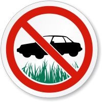 No Parking On The Grass ISO Symbol Sign