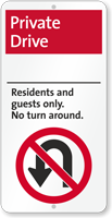 Private Drive, Residents and Guests iParking Sign