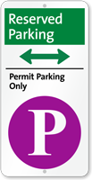 Reserved Permit Parking Bidirectional iParking Sign