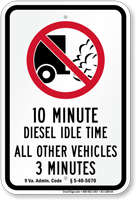 State Idle Sign for Virginia