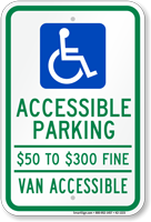 Missouri Van Accessible Parking Sign