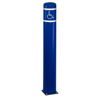 Flexible Bollard with ADA Handicap Symbol