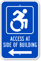 Access Side Building Sign