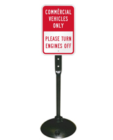 Commercial Vehicles Only Sign & Post Kit