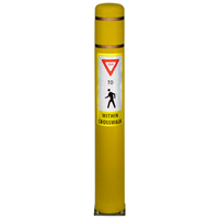 Flex Bollard Post with Pedestrian Crossing Symbol