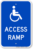 Access Ramp Handicap Sign