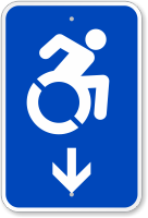 Accessible Down Arrow Sign (With Graphic)
