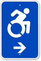 Accessible Right Arrow Sign (With Graphic)