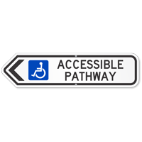 Accessible Pathway Handicapped Access Sign