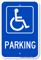 Parking (handicapped symbol) ADA Sign