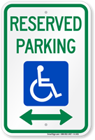 Reserved Parking ADA Handicapped Sign