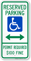 Delaware Bidirectional Reserved Accessible Parking Sign