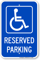 Michigan Reserved Accessible Parking Sign
