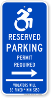 Connecticut Reserved Parking Permit Required Sign