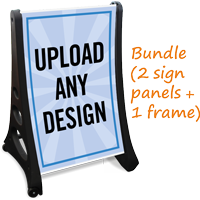 Add Text And Upload Design Sidewalk Sign
